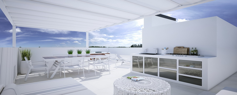 New development of apartments in Puerto de Alcudia